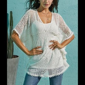 Tops - White crochet top